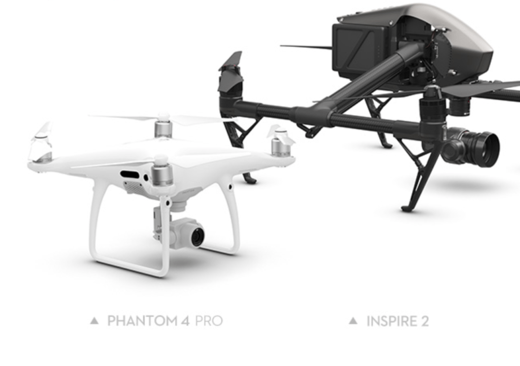 DJI Inspire 2 vs Phantom 4 Pro