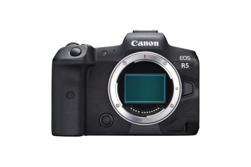 Canon Eos R5 view showing R mount system.