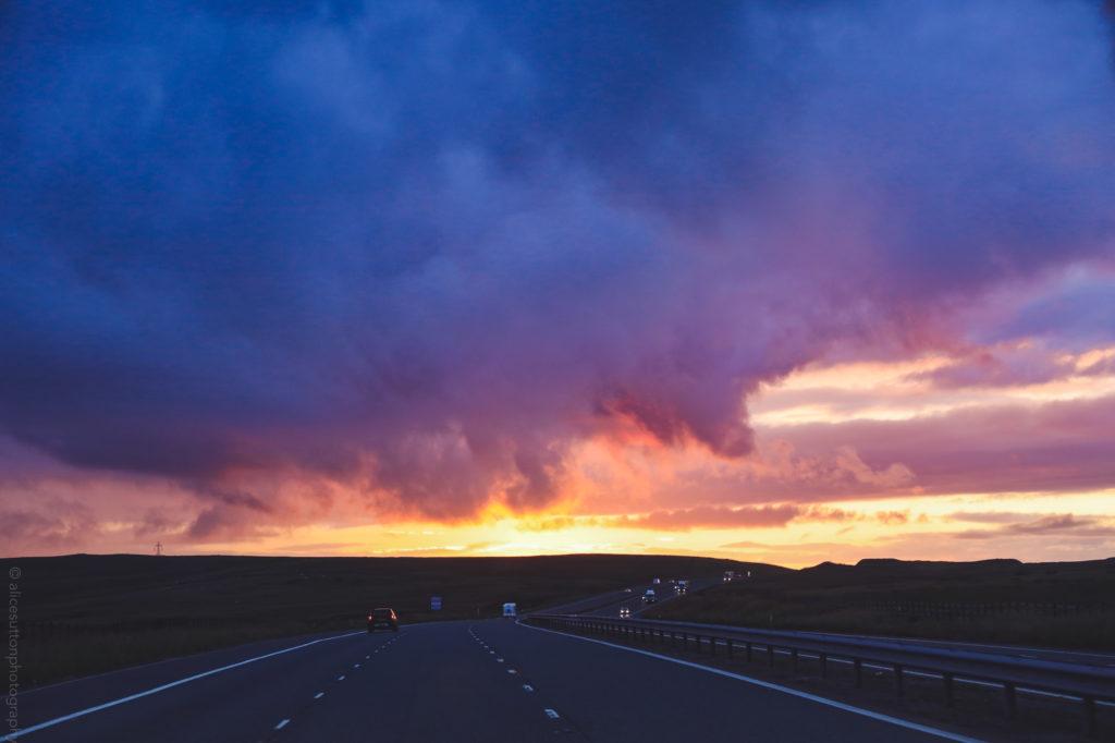 Scottish roadtrip sunset on NC500 (alicesuttonphotography)