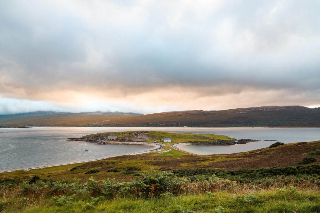 House on Scottish island on NC500 (alicesuttonphotography)